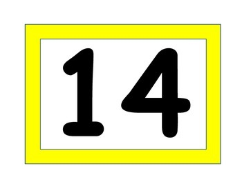 Number Cards, Large
