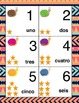 Number Cards- Spanish, Snail Theme