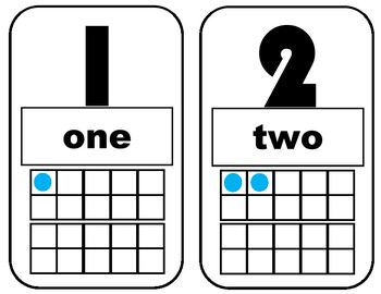 Number Cards for Bulletin Board