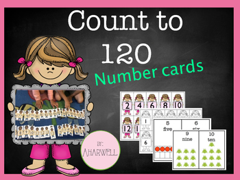 Math Counting Cards to 120