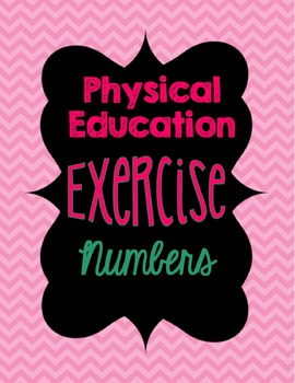 Number Cards for PE Exercises
