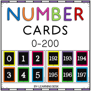 Number Cards iPads Black-Filled