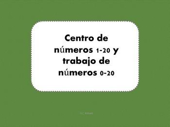 Number Center & Activities 0-20 -Spanish