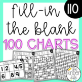 Number Chart Fill-in the Blanks: 66 Differentiated Charts