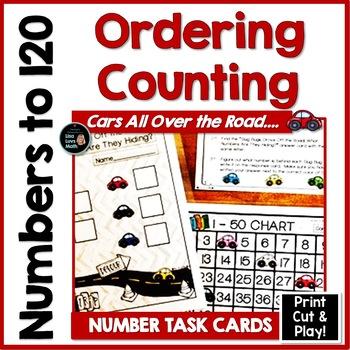 Number Charts 0 - 120 - Race Cars & Slug Bugs!