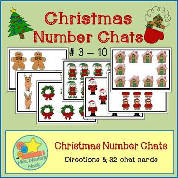 Number Chats for Christmas - Talking about Numbers from 3 to 10