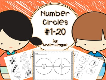 Number Circles- Comparing Numbers to 20 Cut and Pastes by