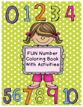 Number Coloring Activity Book