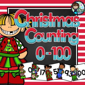 Number Counting 0 - 100 - Christmas themed number order cards