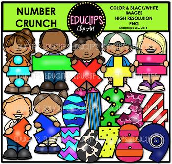 Number Crunch Clip Art Bundle