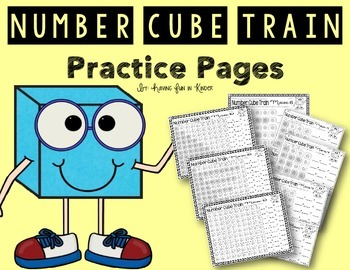 Number Cube Train Practice Pages Numbers 3 - 10 {Decomposi