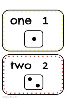 Number Dice Cards and Dice Games