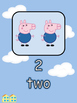 1-10 Number Display Peppa Pig Theme