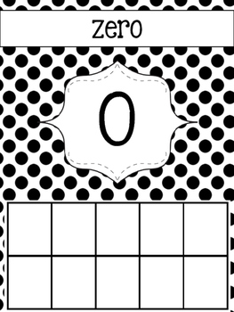 Number Display Cards! {Turquoise, Black, & Grey}