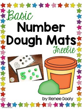 Number Dough Mats 1-10 Freebie