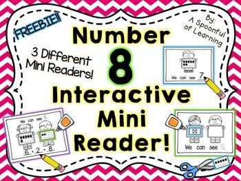 Number Eight Interactive Mini Readers- FREEBIE!