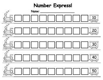 Number Express, Writing 1-50
