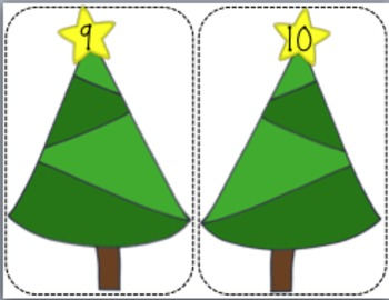 Number Fact Christmas Trees