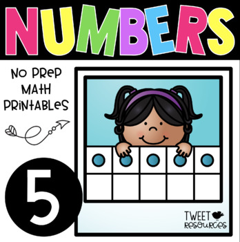All About the NUMBER FIVE~ NO PREP Number Sense Kindergart