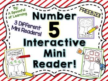 Number Five Interactive Mini Readers- FREEBIE!!