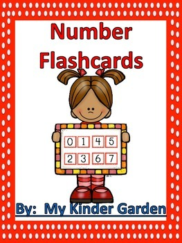 Number Flashcards 0-100 Red Dot