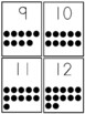 Number Flashcards 1-20 w/counting dots