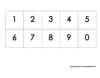 Number Flashcards Zero to Ten ( 0 - 9 )