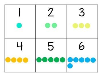 Number Flashcards with Dots (1-10) {FREEBIE}