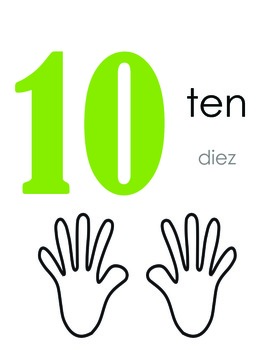 Number Fluency Book 0-20 (numbers in English and Spanish)