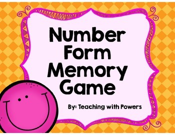 Number Forms Memory Game