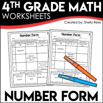 Number Form (Expanded Form, Word Form, & Standard Form) Wo