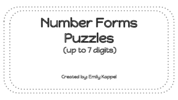 Number Forms Puzzles