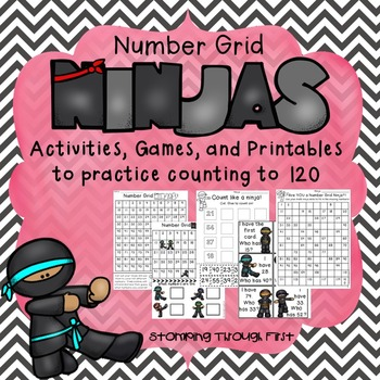 Number Grid Ninjas! Activities, Games and Printables for C
