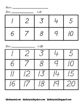Number Grids 1-100 (with traceable numbers)