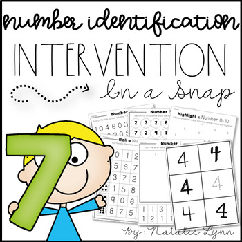 Number Identification 0-20 Intervention and RtI