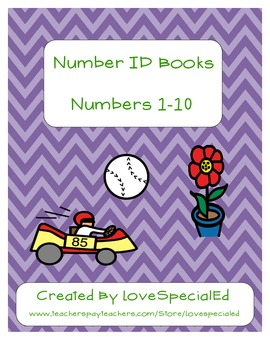 Number Identification 1-10 Book Pack for Early Childhood &