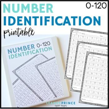 Number Identification Fluency Practice Pages