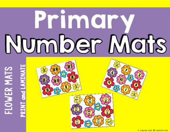Flower Theme Counting & Cardinality Workmats