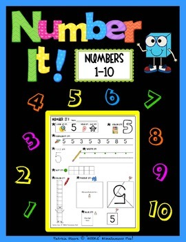 """""""Number It!"""" – Activity Sheets for numbers 1-10"""
