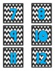 Number Labels- Chevron with Teal