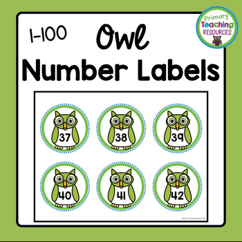 Number Labels: Owl-Themed