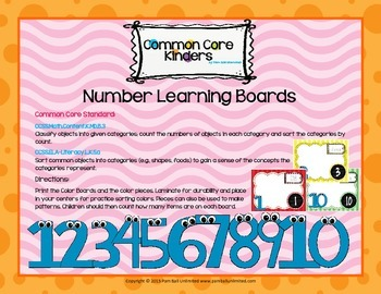 Number Learning Boards