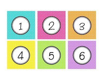 Number & Letter Cards
