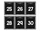 Number Line 1-120 on Black Chalkboard with white chalk numbers