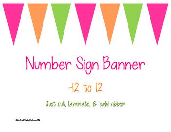 Number Line Banner