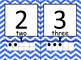 Number Line- Blue Chevron with Ten Frames