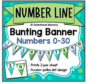 Number Line Bunting Banner