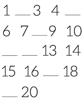 Number Line Fill In