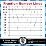 Number Line Fractions Clip Art - Commercial Use OK! ZisforZebra