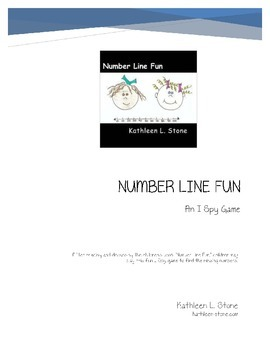Number Line Fun ... An I Spy Game